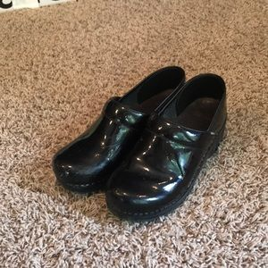 Dansko Clogs - Black Patent Leather